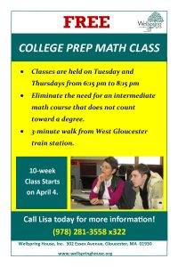 FREE College Prep Math Class at Wellspring: